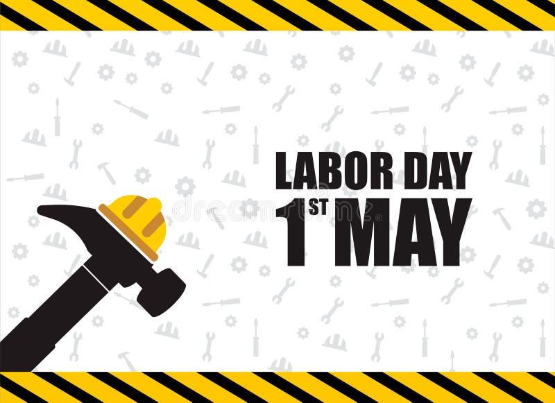 Celebração feliz do Dia do Trabalhador Molde feliz do cartão ou do cartaz ou do inseto do Dia do Trabalhador Ilustra??o feliz do  ilustração stock