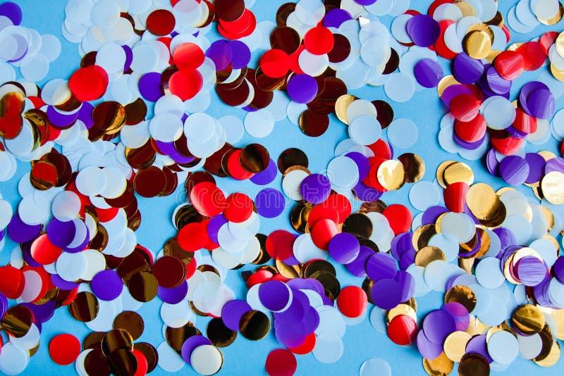 Celebração festiva multicolorido dos confetes da variedade fotografia de stock royalty free
