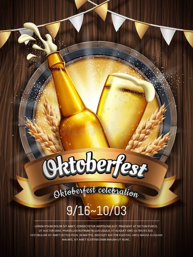 Celebração a mais oktoberfest atrativa ilustração royalty free