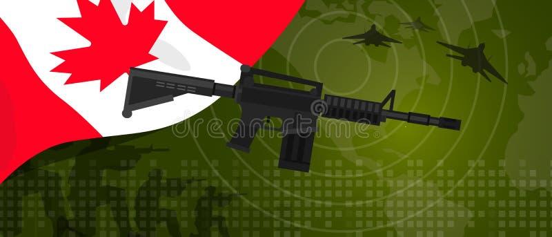 Celebração nacional do país da guerra e da luta do setor da defesa do exército da potência militar de Canadá com o lutador de jat ilustração stock