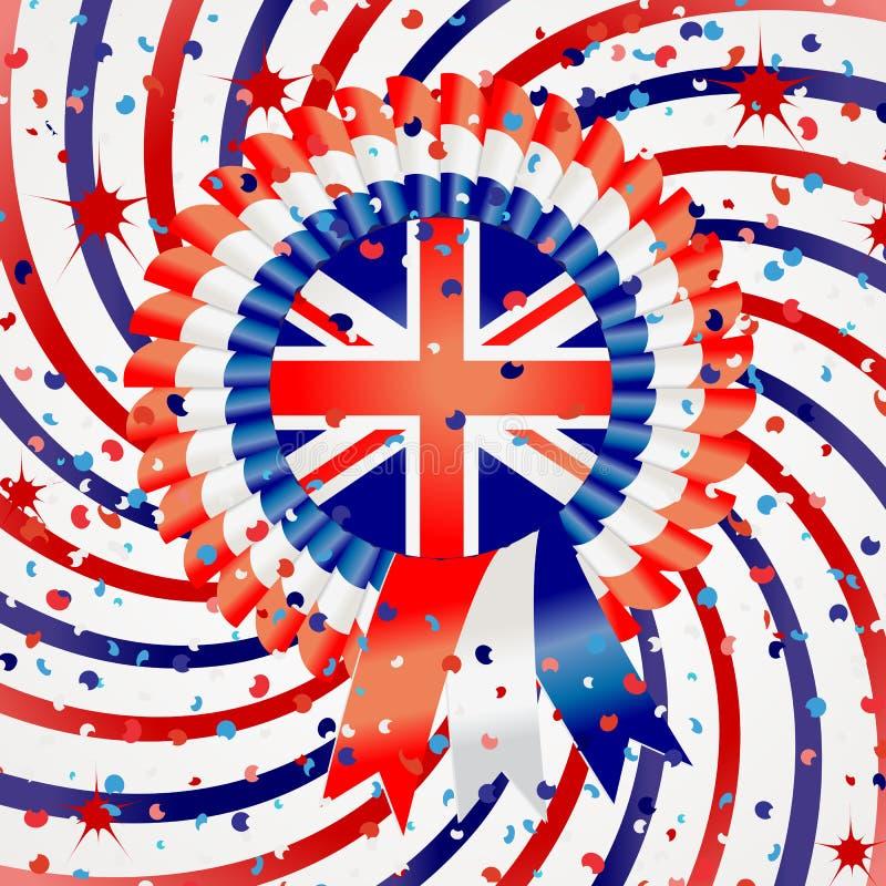 Celebração olímpica de Londres 2012 ilustração do vetor
