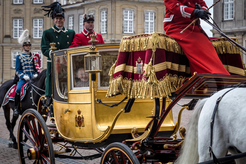 Celebração real do ano novo em Copenhaga, Dinamarca imagem de stock