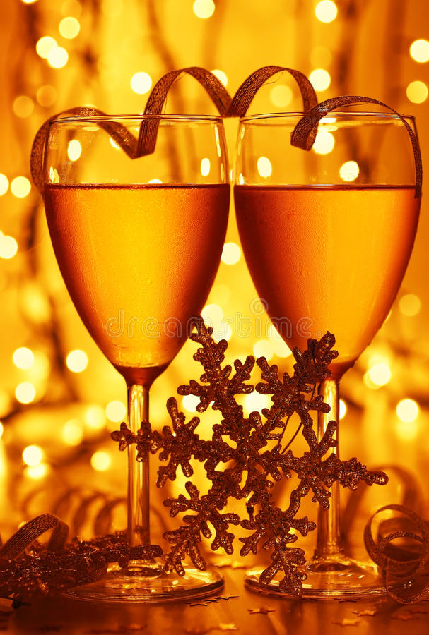 Celebração romântica do feriado foto de stock