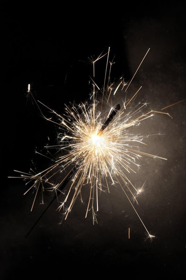 A celebração sparkles com neve foto de stock royalty free