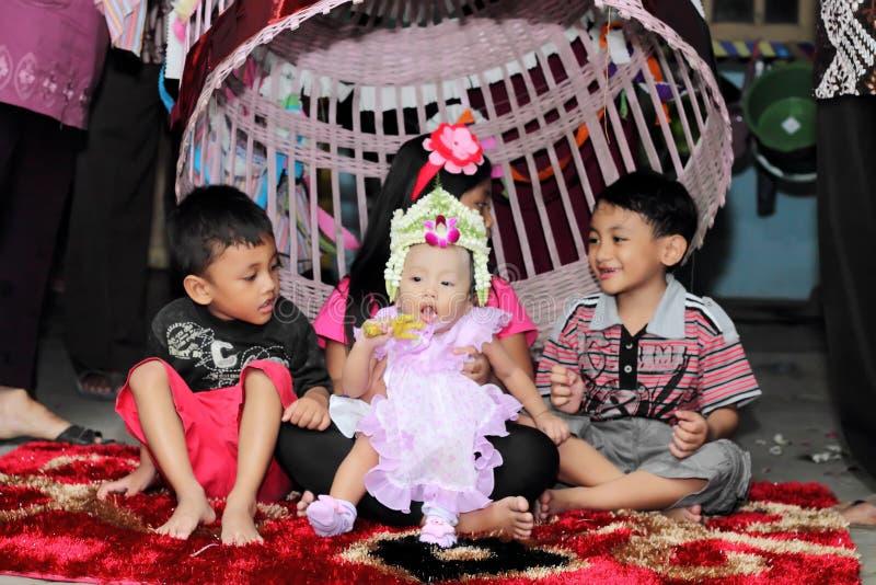 Celebração tradicional do Javanese imagem de stock