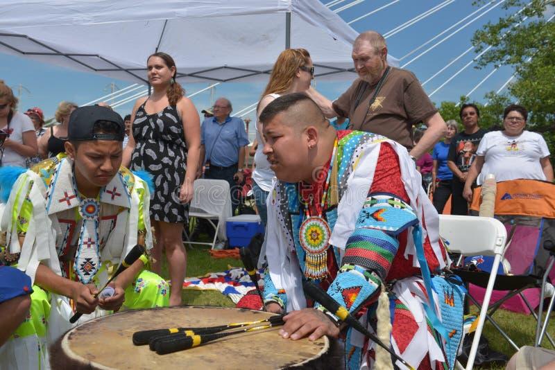Celebração viva do dia aborígene em Winnipeg imagens de stock
