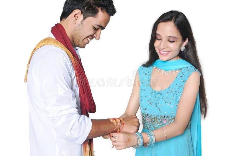 Celebrações bandhan de Rakhsha em India foto de stock