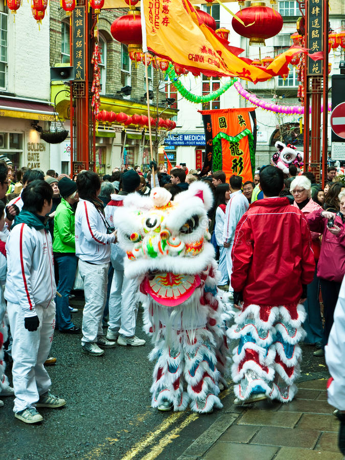 Celebrações chinesas do ano novo fotos de stock