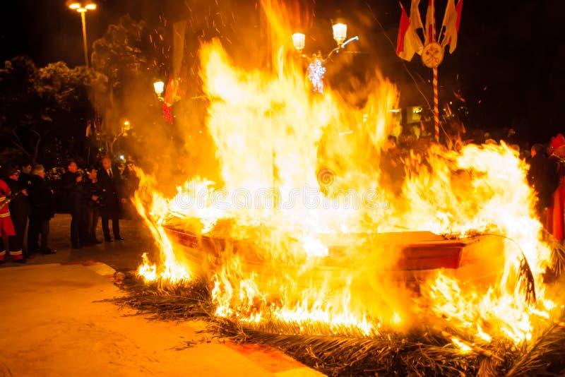 """Celebrações de Devota de Saint no †""""2015 de Mônaco imagens de stock"""