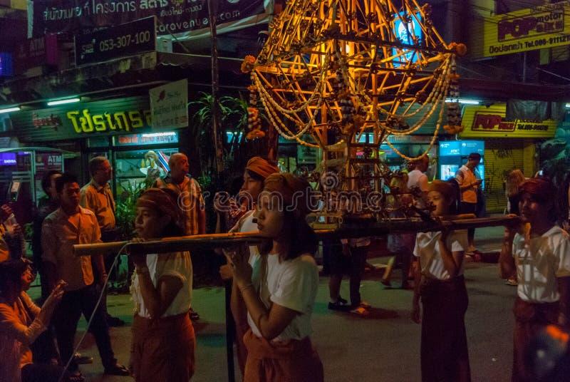 Celebrações de Loi Krathong, Chiang Mai imagem de stock