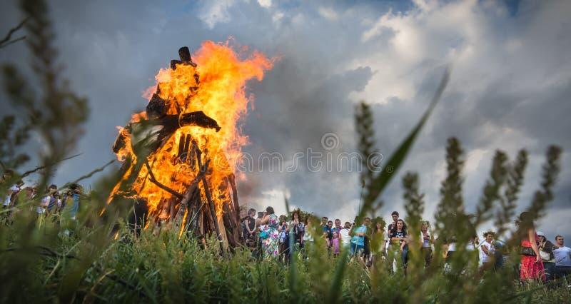 Celebrações eslavos tradicionais de Ivana Kupala foto de stock royalty free