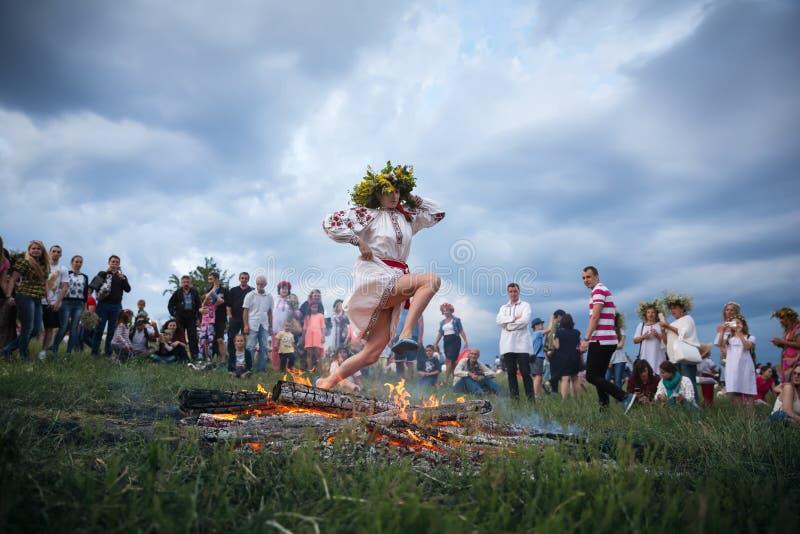 Celebrações eslavos tradicionais de Ivana Kupala imagens de stock