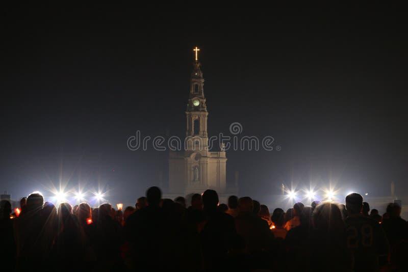 Celebrações religiosas do 13 de maio de 2015 no santuário de Fatima - Portugal imagens de stock