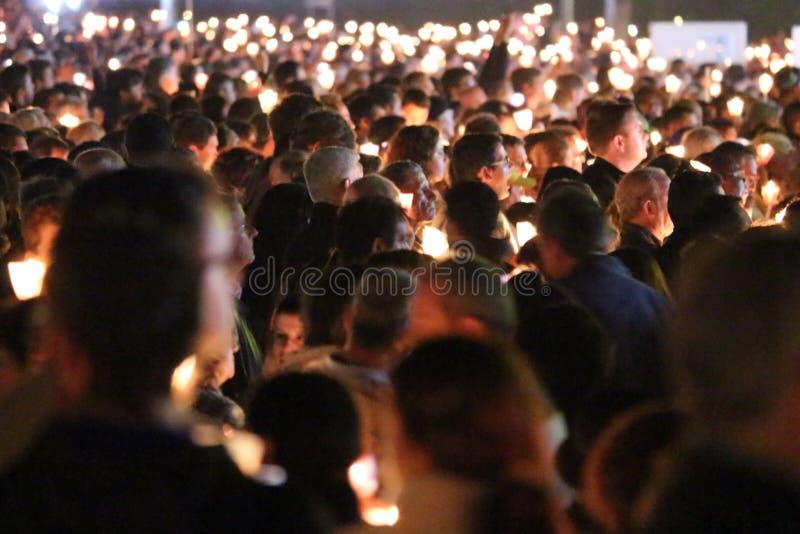 Celebrações religiosas do 13 de maio de 2015 no santuário de Fatima - Portugal foto de stock royalty free