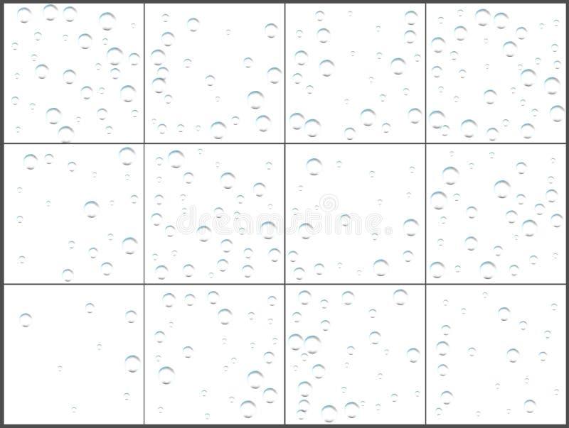 Celebrações transparentes dos confetes da bolha Projeto moderno festivo simples Vetor do feriado Ajuste 12 em 1 ilustração do vetor