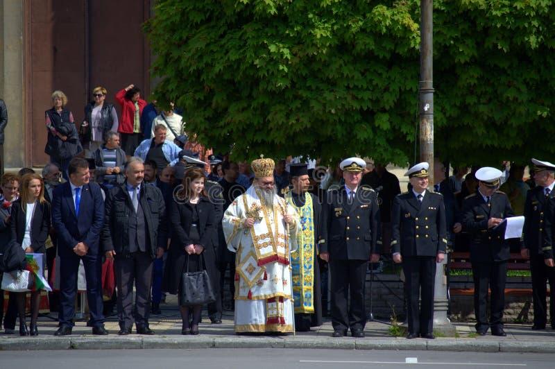 Celebración búlgara del día del ejército, Varna Bulgaria foto de archivo libre de regalías