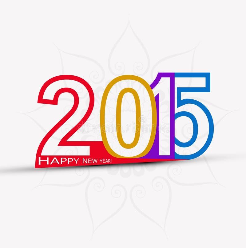 Celebración colorida creativa de la Feliz Año Nuevo 2015 stock de ilustración