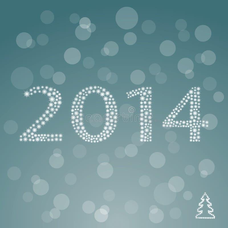 Celebración colorida de la Feliz Año Nuevo 2014. stock de ilustración