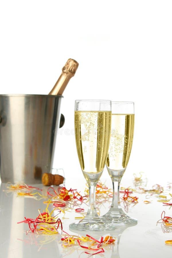 Celebración con champán foto de archivo