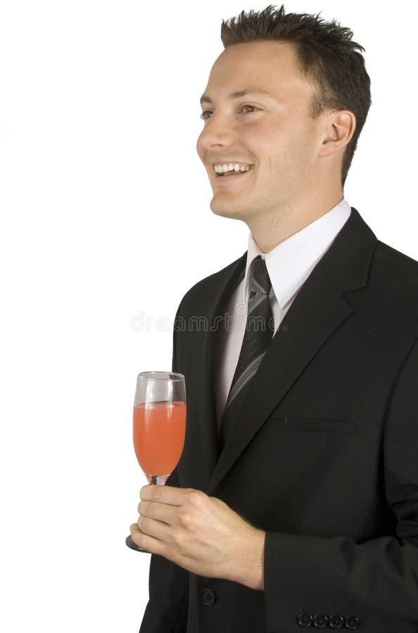 Celebración con una bebida imagen de archivo libre de regalías