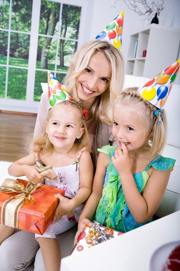 Celebración de cumpleaños imagen de archivo