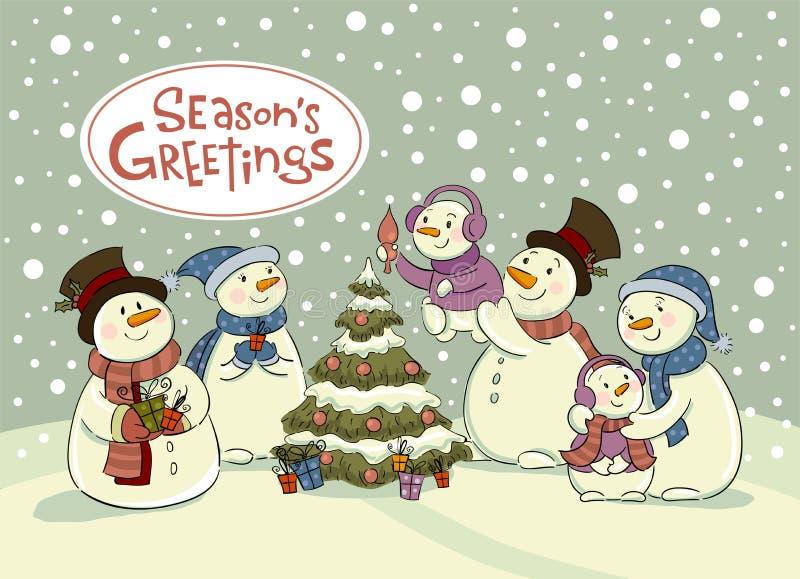 Celebración de días festivos del muñeco de nieve libre illustration