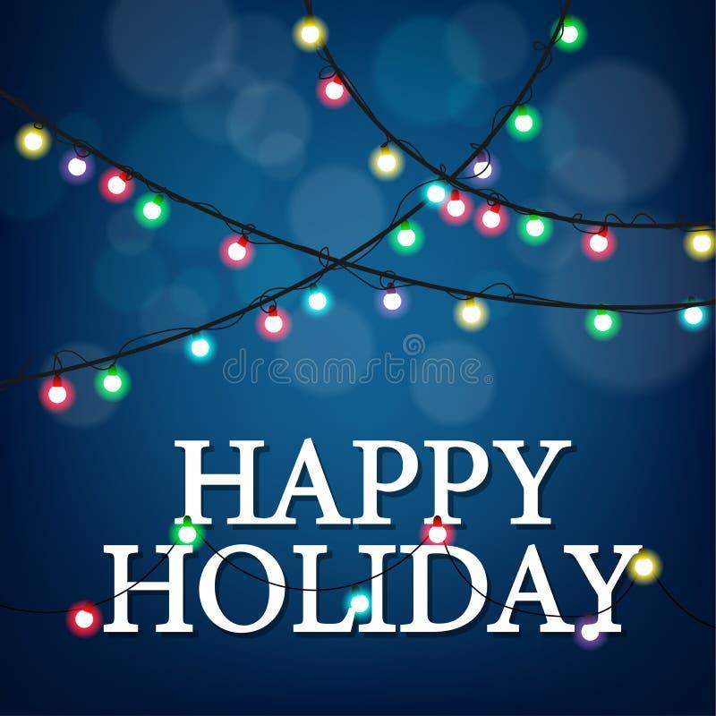 Celebración de días festivos feliz con el partido ligero stock de ilustración