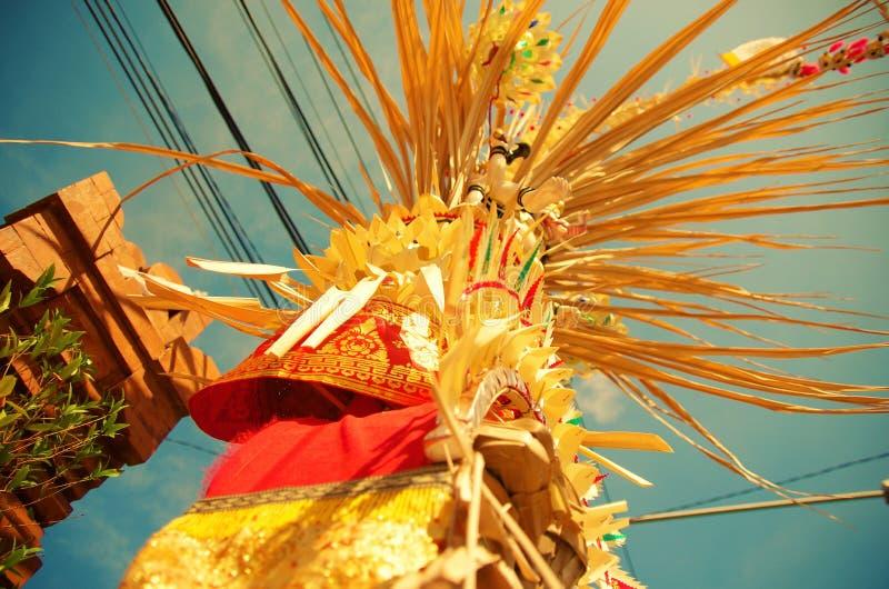 Celebración de Galungan Kuningan en Bali fotografía de archivo