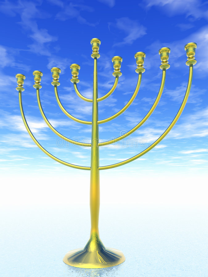 Celebración de Hanukkah. libre illustration