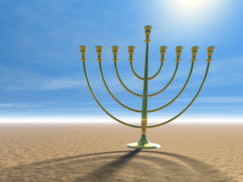 Celebración de Hanukkah ilustración del vector