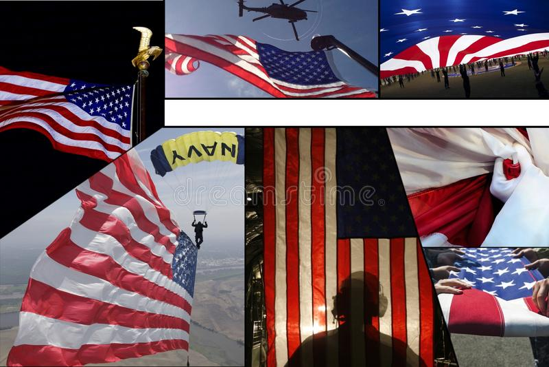 Celebración de la bandera americana foto de archivo