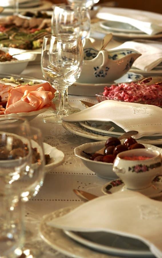 Celebración de la cena de la familia imagen de archivo libre de regalías