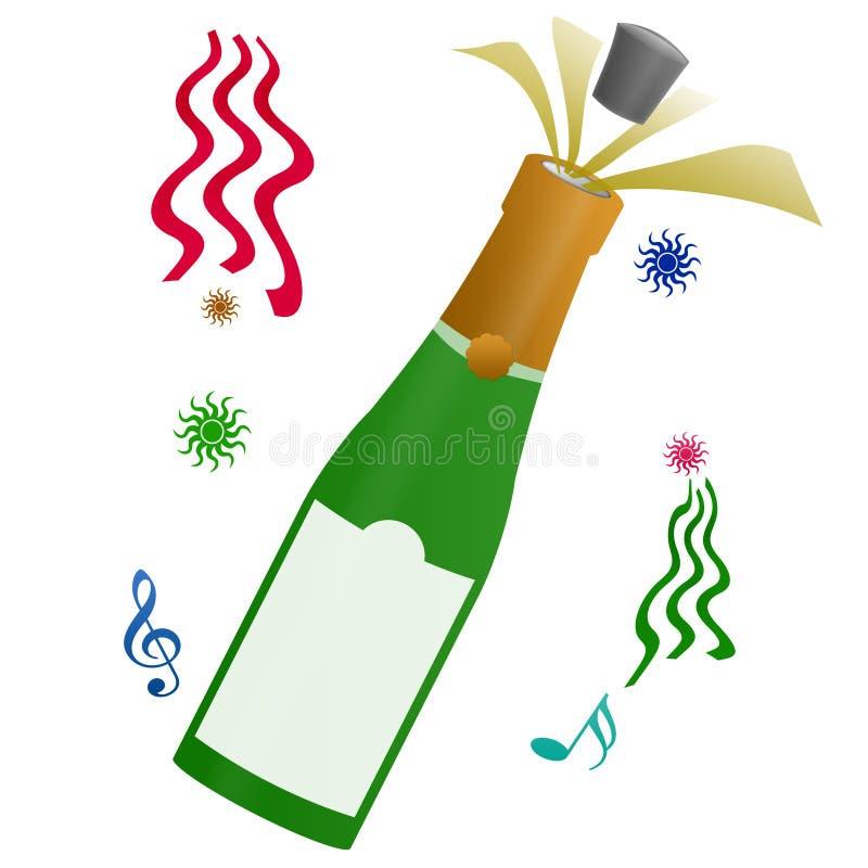 Celebración de la Feliz Año Nuevo stock de ilustración
