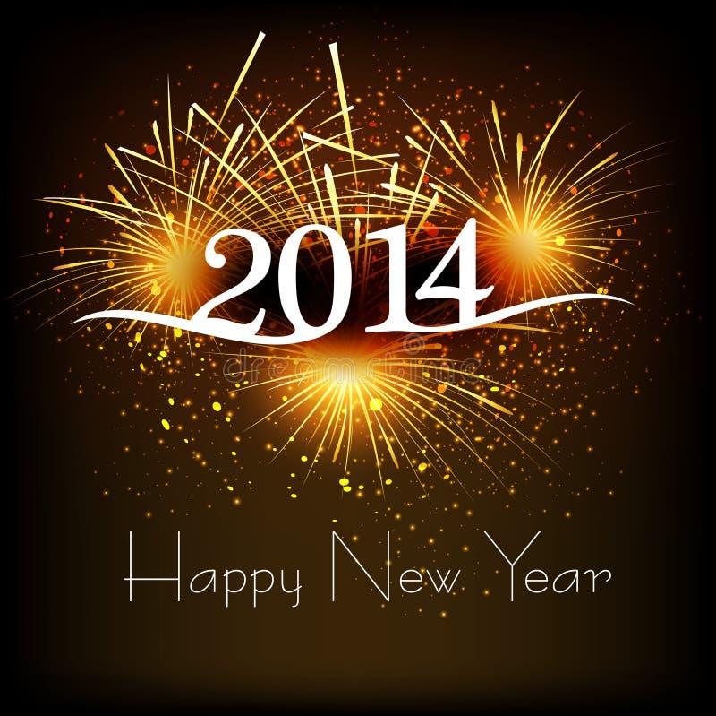Celebración de la Feliz Año Nuevo de la tarjeta de felicitación 2013 ilustración del vector