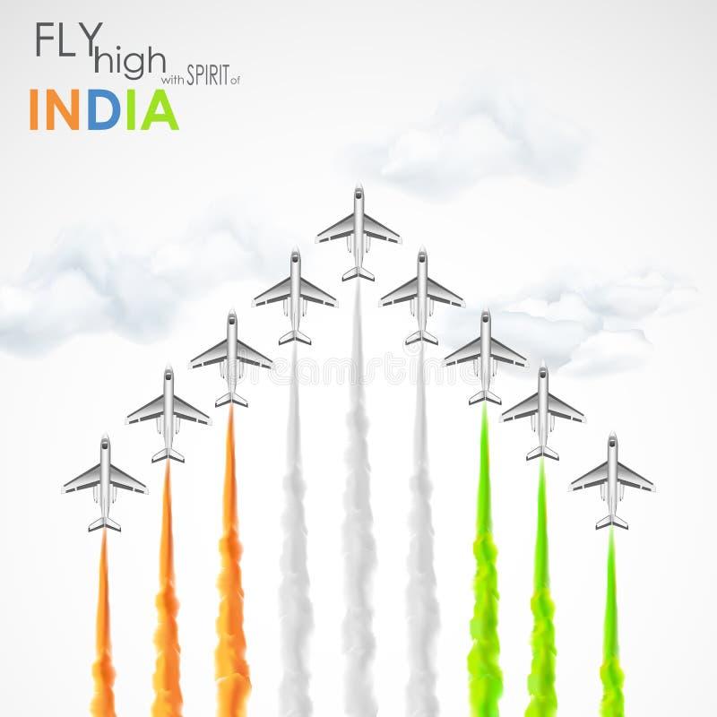 Celebración de la libertad india stock de ilustración