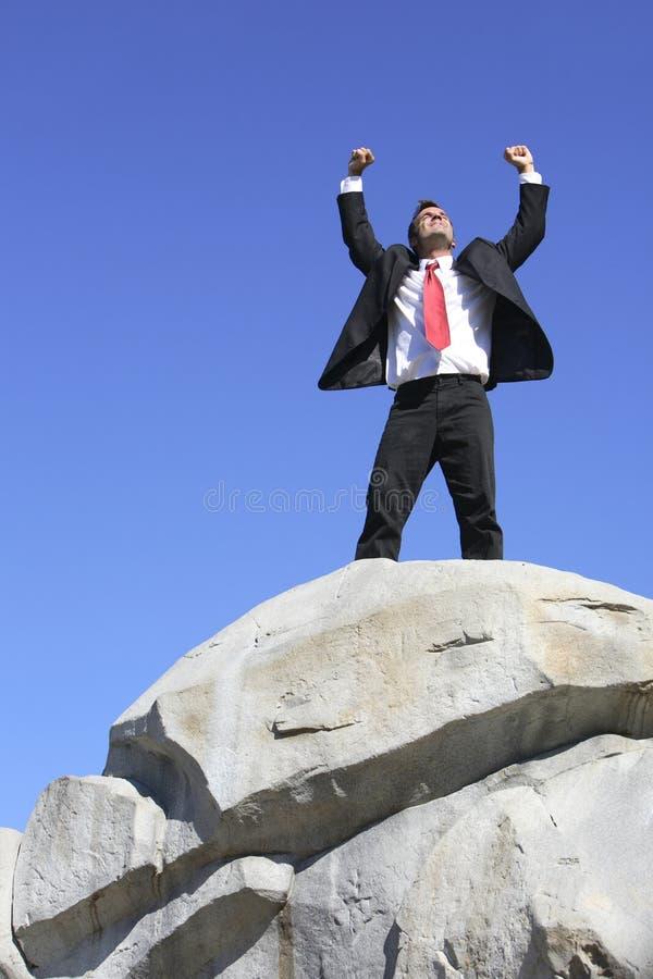 Celebración de la subida de la roca imagen de archivo