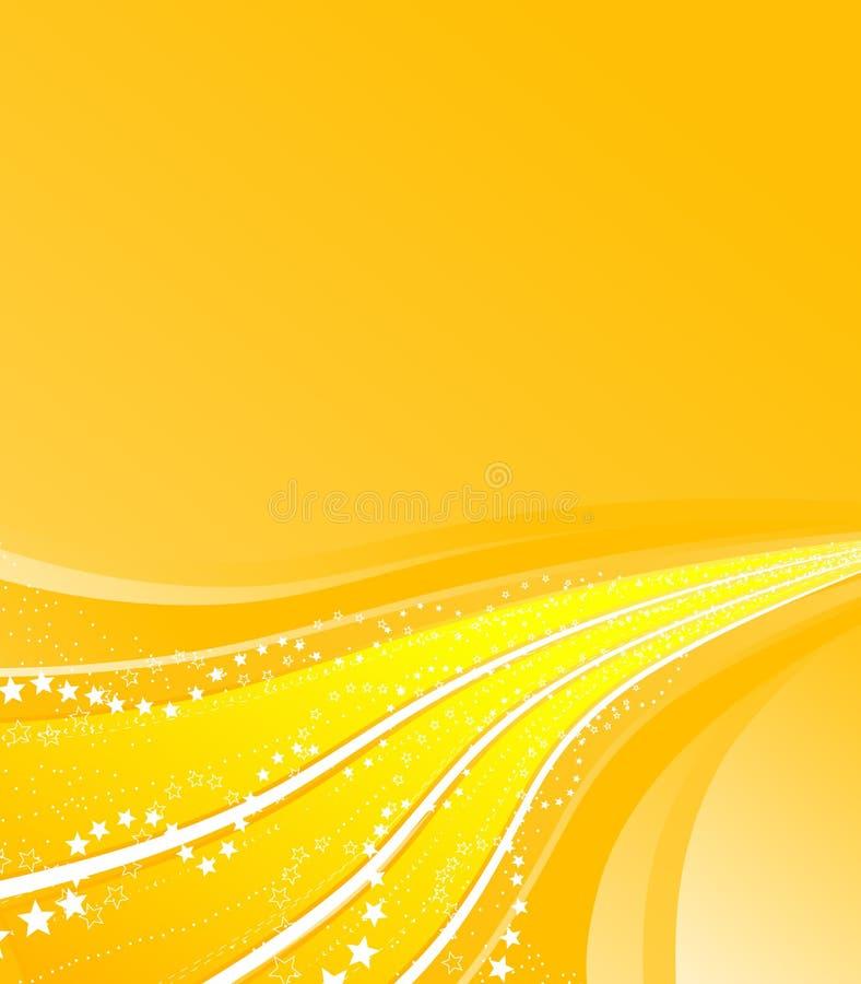 Celebración de las rayas que fluye ilustración del vector