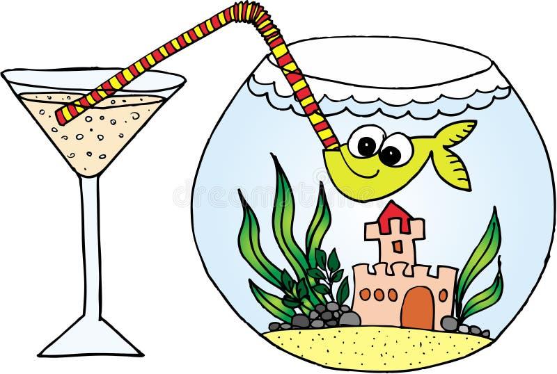 Celebración de pescados ilustración del vector