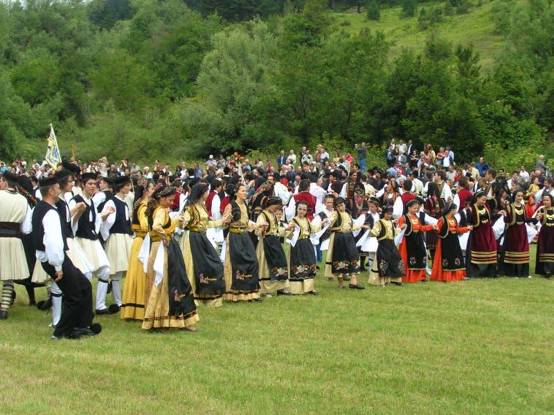 Celebración de Vlach en Grecia imagen de archivo