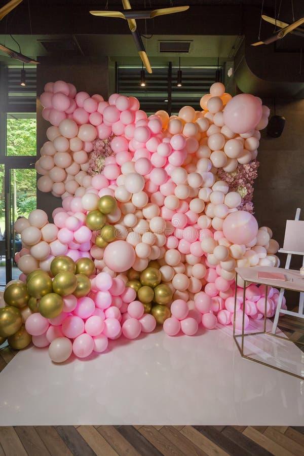 Celebración de zona de la foto con rosa y color en colores pastel imagen de archivo libre de regalías