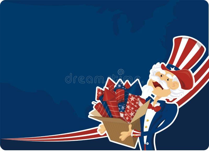 Celebración del 4 de julio stock de ilustración