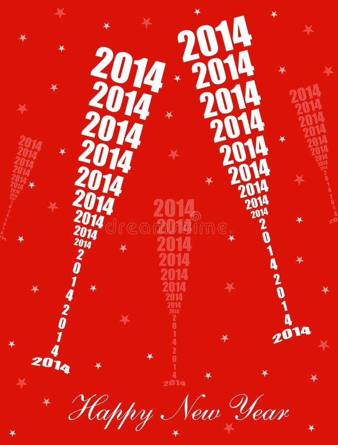 Celebración 2014 del Año Nuevo stock de ilustración