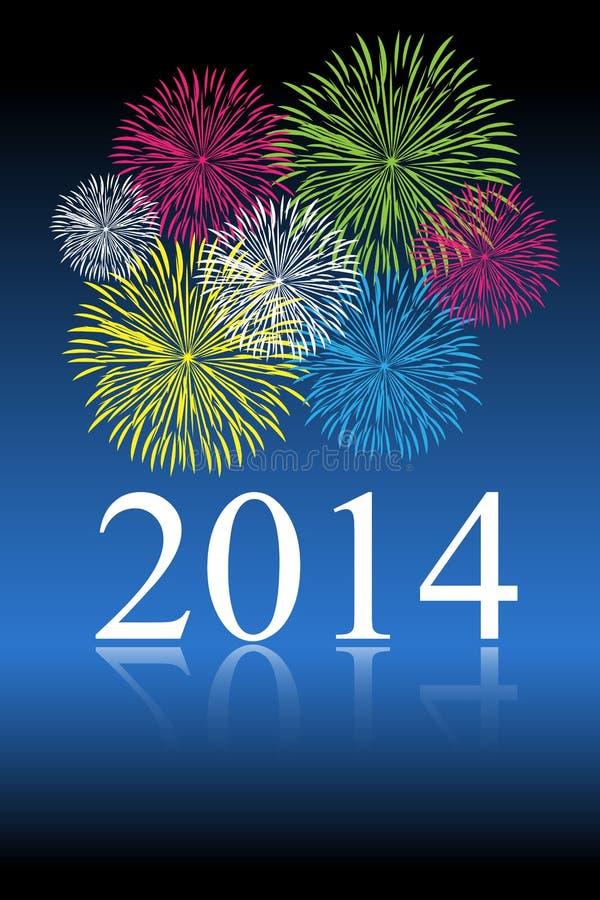 celebración del Año Nuevo 2014 ilustración del vector