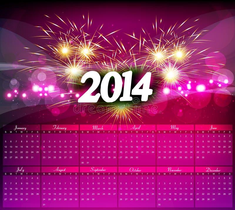 Celebración del calendario del Año Nuevo 2014  libre illustration