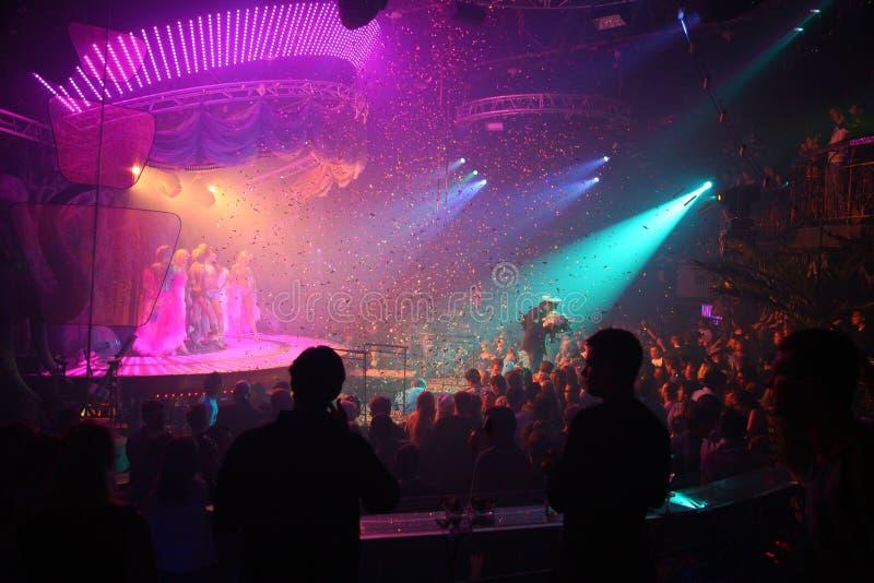 Celebración del club de noche fotografía de archivo libre de regalías