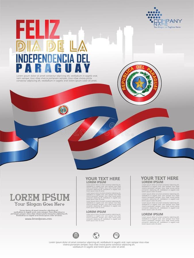 Celebración del Día de la Independencia de Paraguay o libre illustration
