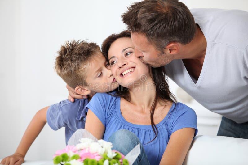 Celebración del día de madre imagenes de archivo