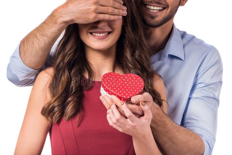 Celebración del día de tarjeta del día de San Valentín foto de archivo libre de regalías