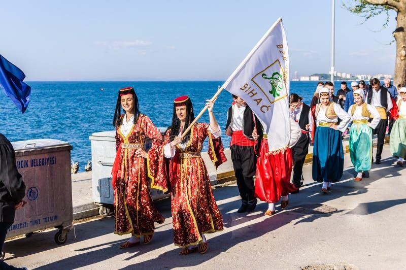 Celebración del día del ` nacional s de la soberanía y de los niños - Turquía fotografía de archivo