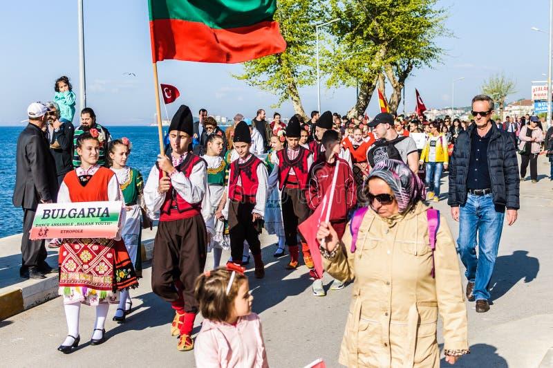 Celebración del día del ` nacional s de la soberanía y de los niños - Turquía fotografía de archivo libre de regalías